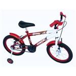 Bicicleta Aro 16 Masc Onix com Roda Al e Acessorios na Cor Verm