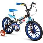 Bicicleta Aro 16 Tech Boys Nathor Preto
