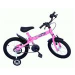 Bicicleta Aro 16 Xt Fem Onix Cor Especial-pink Neon-acessorio Preto