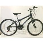 Bicicleta Aro 24 Infantil New Bike 18 Marchas Quadro Rebaixado - Preta - Infantil
