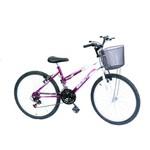 Bicicleta Aro 24 Wendy Fem 18m Convencional Viol