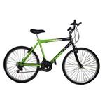 Bicicleta Aro 26 18 Marchas New Bike Pneu com Cravo Tam 19 Preta/verde - 19 - Preta com Verde
