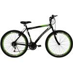 Bicicleta Aro 26 18M Jet Preta e Verde Athor