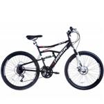 Bicicleta Aro 26 Disk Brake 21V MTB TB500 Preto/Branco - Track Bikes