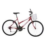 Bicicleta Aro 26 Houston Foxer Maori com Cesta 21 Marchas Vermelho