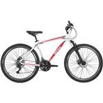 Bicicleta Aro 26 Mormaii B-range 2.0 com 21 Marchas, Branca/vermelha