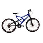 """Bicicleta Aro 26"""" 21v Status Full (Freio a Disco) - Azul"""
