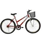 """Bicicleta Aro 26"""" Sem Macha Model Vermelha Athor"""