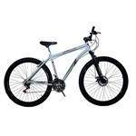 Bicicleta Aro 29 New Bike City 21 Marchas Branca com Suspensão