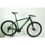 Bicicleta Aro 29 Venzo Kit Acera 21v Mecânico Preta e Verde
