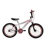 Bicicleta Athor Aro 20 Max Cross Aluminio Masculino Branca com Kit Vermelho