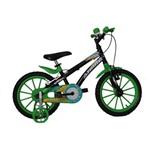 Bicicleta Athor Aro 16 Baby Lux Masculino Preta com Kit Verde