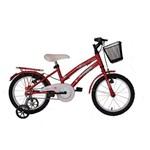 Bicicleta Athor Aro 16 Bliss Feminino com Cestinha Vermelha