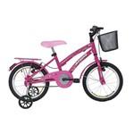 Bicicleta Athor Aro 16 Bliss Rosa com Cesta