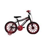 Bicicleta Athor Aro 16 Max Aluminio Masculino Preta com Kit Vermelho