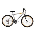 Bicicleta Athor Aro 26 Mtb 18/m Jet Branca C/ Adesivo Amarelo