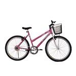 Bicicleta Athor Aro 26 Mtb S/m Model Feminino C/ Cestão - Rosa
