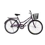 Bicicleta Athor Aro 26 Venus Freio C/ Pedal C/ Cestão Violeta