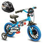 Bicicleta Criança de 3 a 5 Anos Aro 12 Menino Veloz com Capacete Preto Nathor