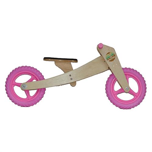 Bicicleta de Madeira: Woodbike Kit 2 em 1 - Rosa