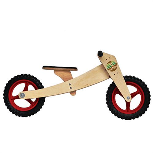 Bicicleta de Madeira: Woodbike Kit 2 em 1 - Vermelha