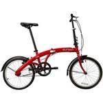 Bicicleta Dobrável Aro 20 Durban One 1 Velocidade Vermelha
