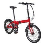 Bicicleta Dobrável Bay Pro Aro 20 6 Marchas Vermelha Durban