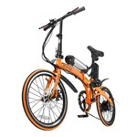 Bicicleta Dobrável Pliage + Kit Elétrico Two Dogs - Laranja