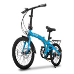 Bicicleta Dobravel Two Dogs Pliage Plus 7 Marchas Freio a Disco Azul