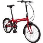 Bicicleta Dobr�vel Durban Bay 6 Aro 20 6 Marchas Vermelha