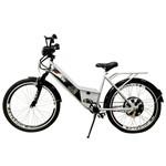Bicicleta Elétrica Confort FULL 800W 48V 15Ah Cor Branca