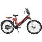 Bicicleta Elétrica CONFORT FULL 800W 48V 15Ah Cor Cereja