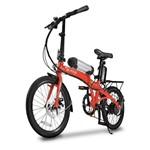 Bicicleta Elétrica Dobrável Two Dogs Pliage Vermelha