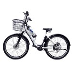 Bicicleta Elétrica Machine Motors Deluxe Lithium 350W 36V Branca