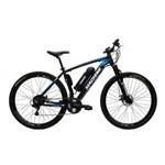 Bicicleta Elétrica Machine Motors Liberty Lithium 350W 36V Preto/Azul