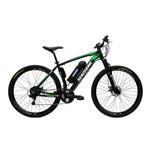 Bicicleta Elétrica Machine Motors Liberty Lithium 350W 36V Preto/Verde
