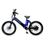 Bicicleta Elétrica Premium 800w 48v Azul/preto