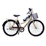 Bicicleta Elétrica Retrô Lithium 350w 36v Creme