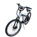 Bicicleta Elétrica Scooter Brasil 850W Sport MTB Branca (Com Farol e Alarme)