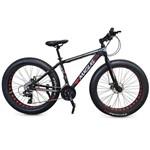 Bicicleta Fat Bike Aro 26 Alumínio 24V Shimano Freio a Disco Jery Preta