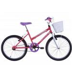Bicicleta Feminina Cindy com Cesta Aro 20 Salmão/Branco - Track Bikes