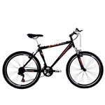 Bicicleta Houston Aro 26 Frontier Win 21 Marchas - Preto Brilhante