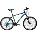 Bicicleta Houston MXC 1 Aro 26 24 Marchas - Preto com Azul Ciano