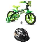 Bicicleta Infantil Aro 12 Black com Capacete Nathor
