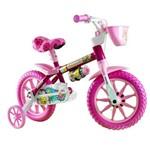Bicicleta Infantil Aro 12 Flower Selim em PU (Banco Macio)