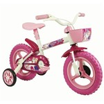 Bicicleta Infantil Feminina Aro 12 Arco Iris Branco e Rosa - Track Bikes
