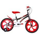 Bicicleta Infantil Houston NIC Aro 16 Monovelocidade - Preta/Vermelha