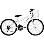 Bicicleta Mormaii Aro 24 Fantasy 21 Marchas Branca