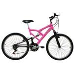 Bicicleta Mormaii Aro 24' Full FA240 18V Rosa Fluor/Preta- 2011873