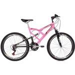 Bicicleta Mormaii Aro 26 Full Susp Big Rider 24v Rosa Fluor - 2011901